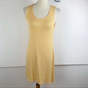 Olivia Rae Yellow Striped Sleeveless Dress G3267